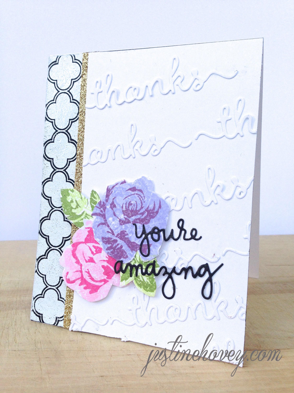 Thank You Card Tutorial: Die Cutting