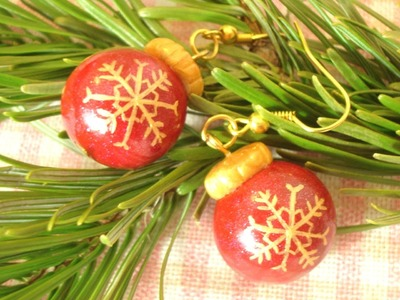 Tutorial - Christmas Ornament Earrings