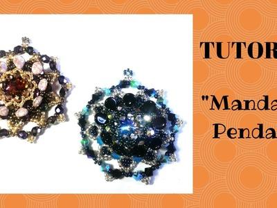 """Tutorial: come realizzare un ciondolo """"Mandala"""" con le pip"""