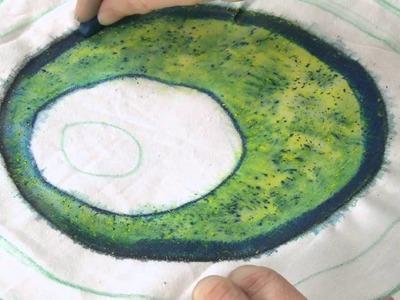 Using Inktense on fabric