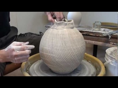 121. Using Sodium Silicate and a Cheese Cutter to Create a Textured Vase with Hsin-Chuen Lin