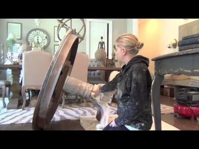 Annie Sloan Chalk Paint Tutorial-The Weathered Wood Look