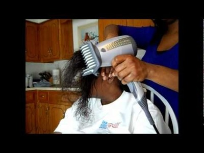 Apply Just For Me Texture Softener To Your Hair