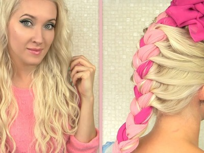 Beach waves overnight How to curl your hair without heat with clip-in extensions and a scarf braid