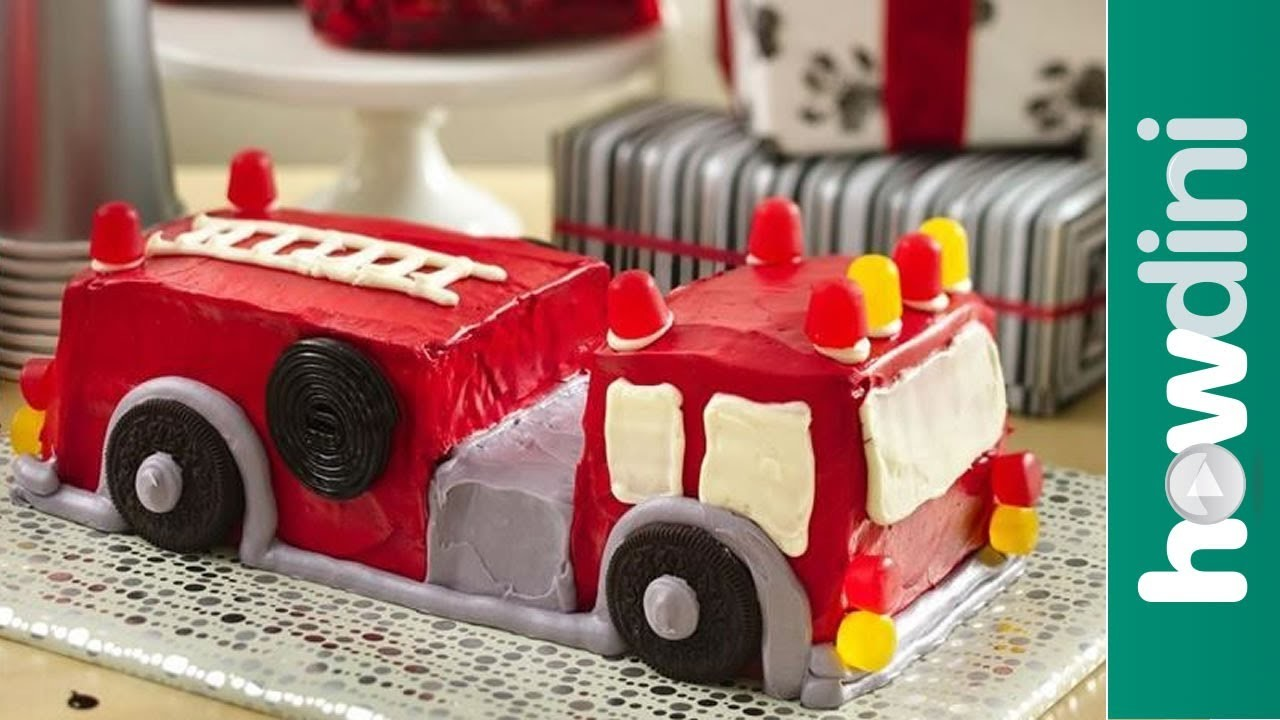 Birthday Cake Ideas: How to Make a Fire Truck Birthday Cake