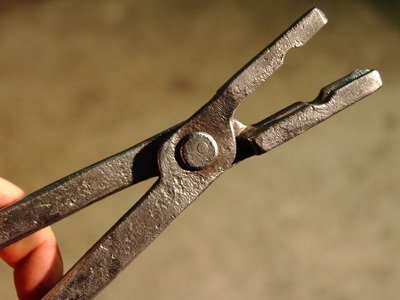Blacksmithing  Forging tongs Step By Step How to by n.b