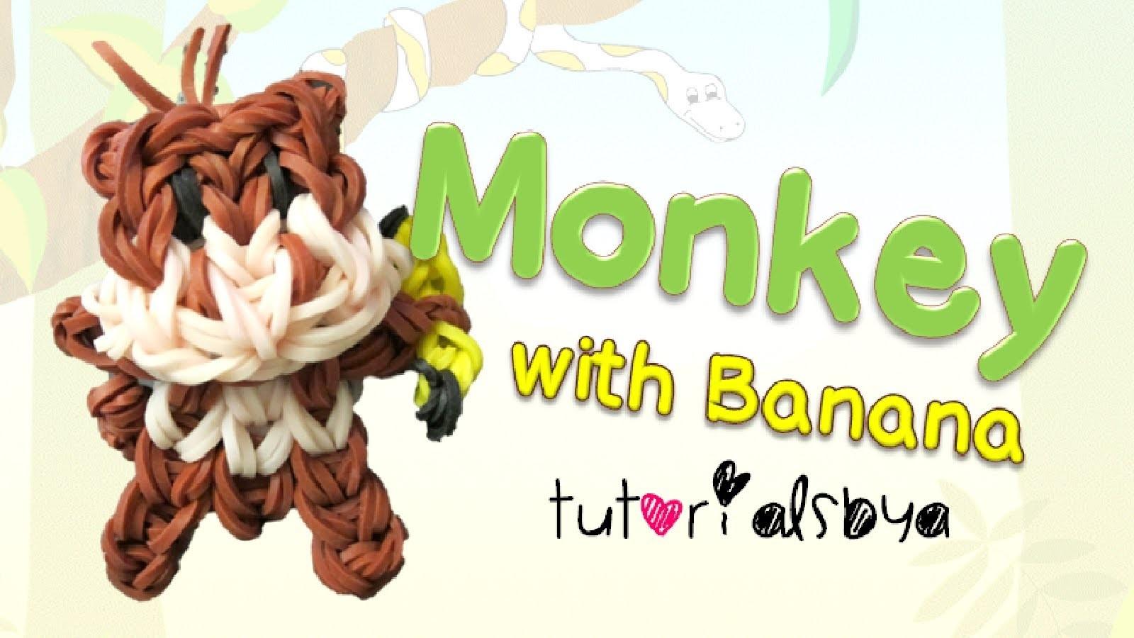 {Bobblehead} Monkey with Banana Animal Charm. Mini Figurine Tutorial | How To