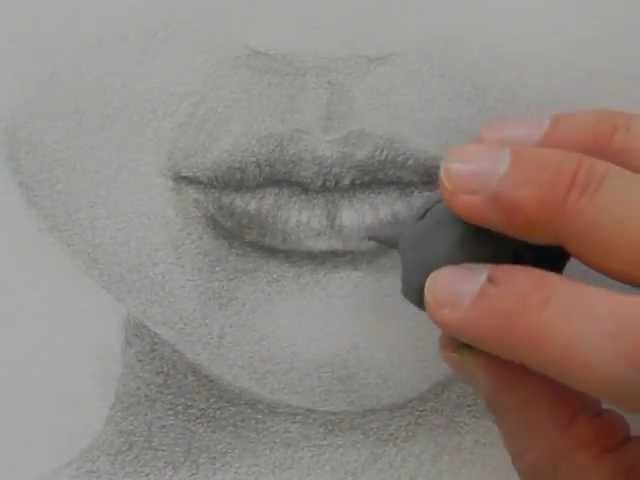 Drawing mouths:How to Draw a Realistic Lips With Pencil - Fine Art-Tips.