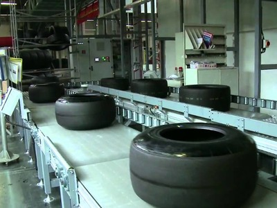 F1 2011 - How the Pirelli Formula One tyre is made