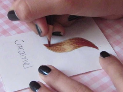 How to color CARAMEL hair with prismacolor colored pencils
