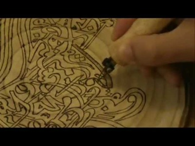 How to copy calligraphy to wood using pyrography. wood burning technique