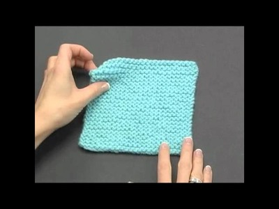 How to Knook: Garter Stitch (Left Handed)