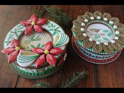 How to Make 3-D Christmas Cookie Boxes (Part 2 - The Lids)