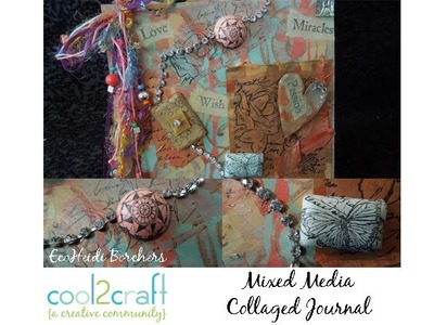 How to Make a Mixed Media Grocery Bag Journal by EcoHeidi Borchers