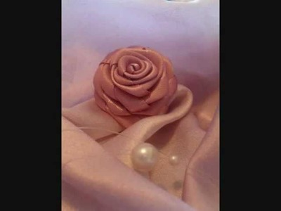 How to make a ribbon rose tutorial