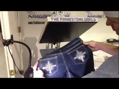 How To Make Designer Style Rhinestone Jeans Pants
