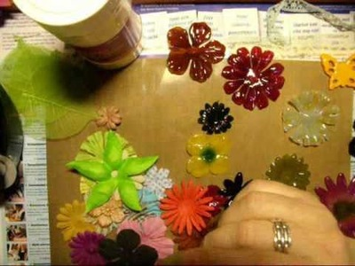 How to make. .Flowers decorate with UTEE in Melting pot part 1