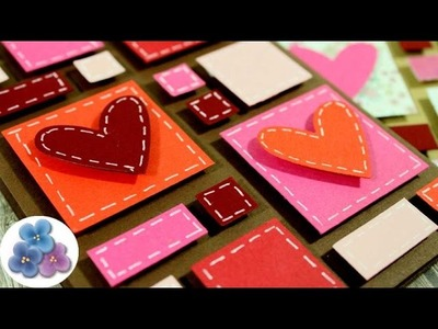 How to make LOVE cards for Valentine's Day using paper scraps Mathie