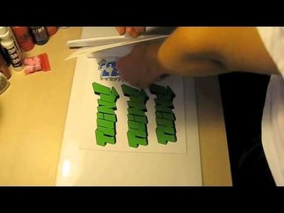 How To Make Professional Graffiti Stickers: Redo