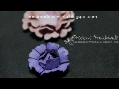 How to making flower using nesting scallops