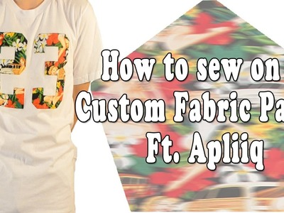 How to sew on a Custom Fabric Patch Ft. Apliiq