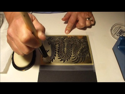 How to use Pearl Ex or Mica powders with embossing paste