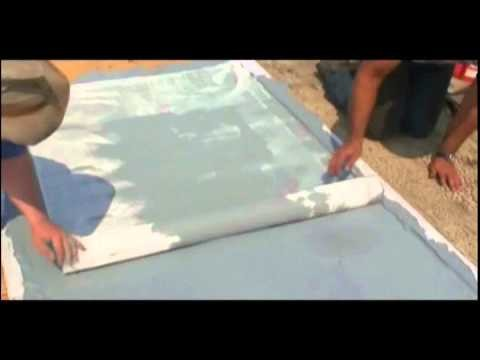 How to waterproof a plywood roof deck.