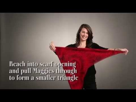 How to wear Maggies with a square scarf