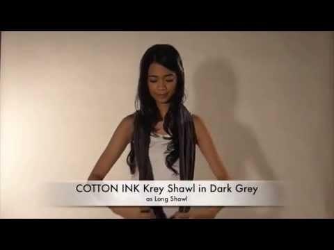Krey Shawl - How to wear  - Long Shawl