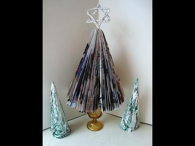 MAGAZINE CHRISTMAS TREE, recycle a magazine or catalogue