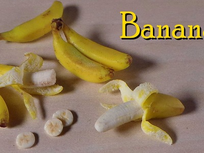 Polymer Clay Banana Tutorial - Miniature Food