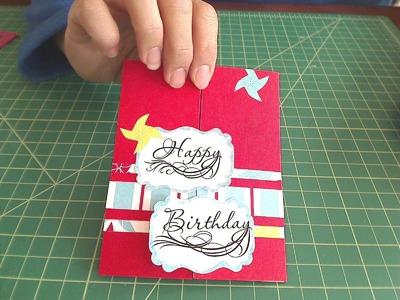 Secret Door Card for Sarah Elliott's Son's 6th Birthday with Tutorial