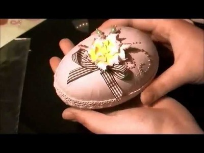 """"""" Shabby chic Easter Egg """" Tutorial"""
