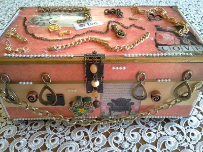 Shoe Box with chains-Altered Shoe Boxes Series-Tutorial No4
