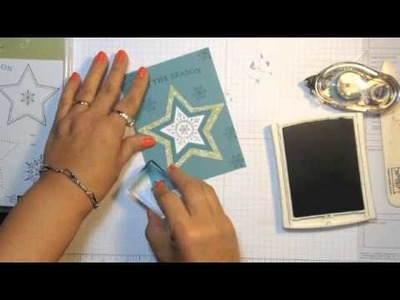 Stampin' Up! 2014 Christmas Card Ideas  Many Merry Stars Card and Envelope Combo