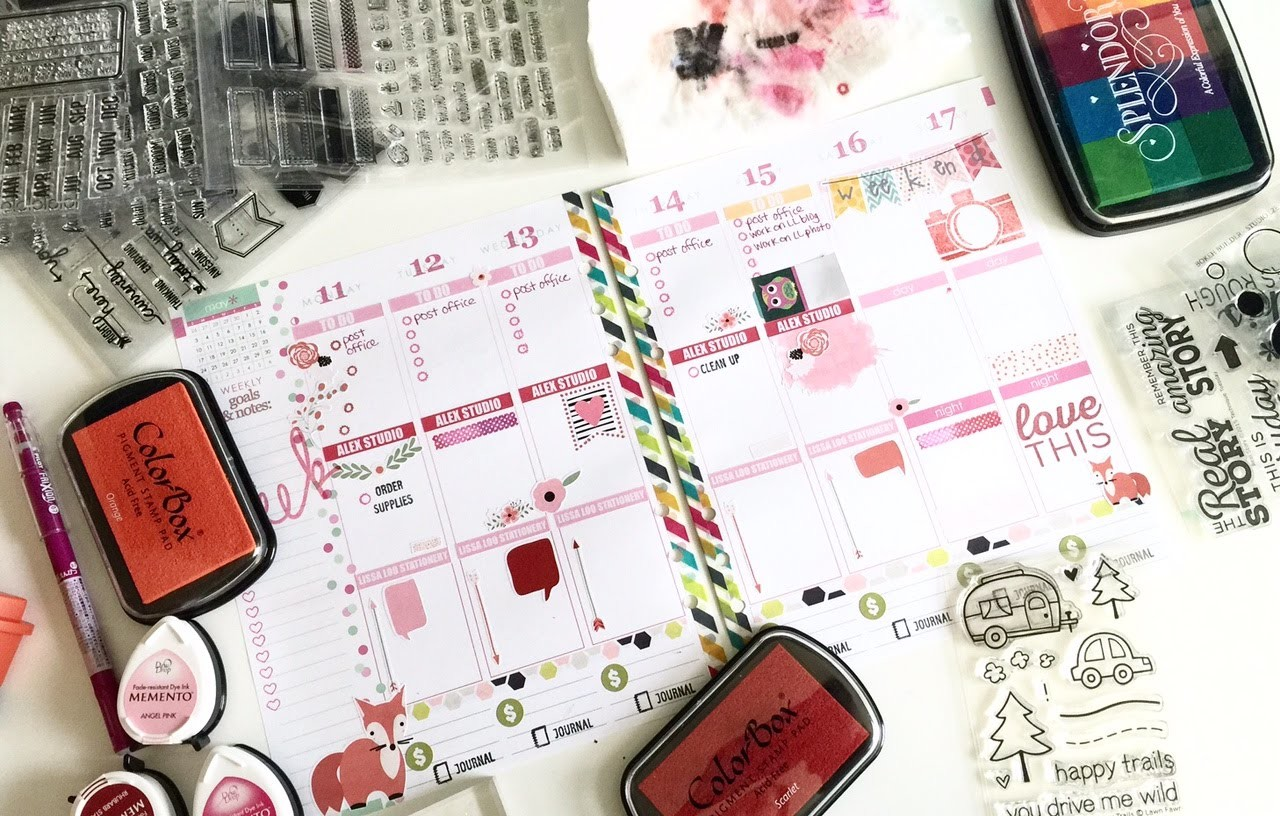 Stamping 101: How to Use Stamps in Your Planner!