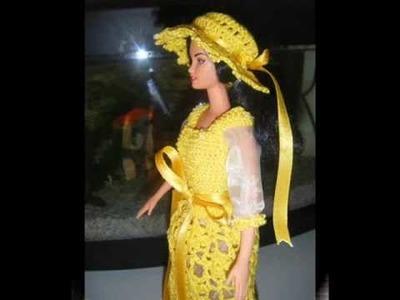 Vestito giallo con perline