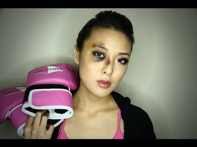 Boxer Girl Bruised Eye Halloween Tutorial