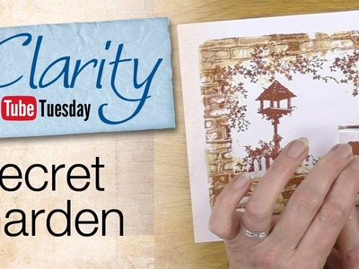 Clarity Stencil and Gelli Plate How To - A Secret Garden