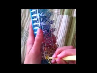 Crazy 8 rainbow loom bracelet tutorial