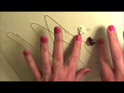 Crystal Butterfly Necklace Tutorial