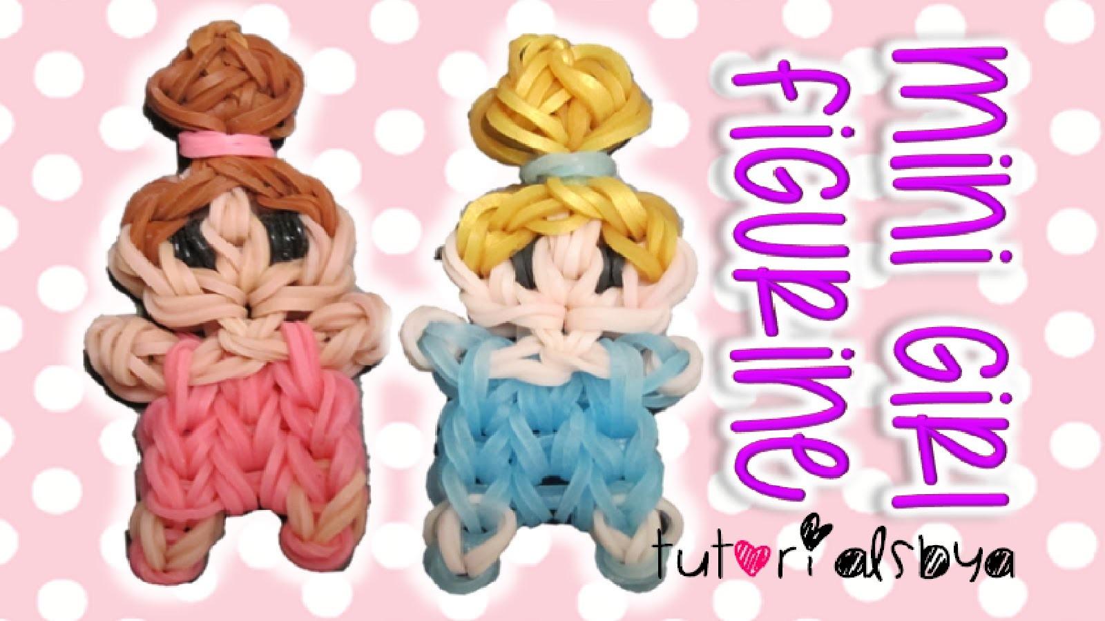 Cute Mini Baby Girl Person Charm. Figurine Rainbow Loom Tutorial | How To
