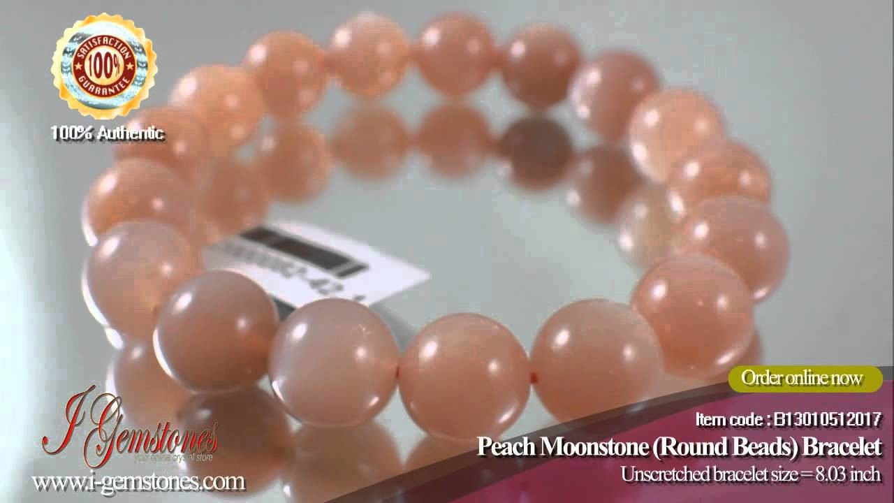 Do you want to nourish and rejuvenate your skin? Peach Moonstone Bracelet is the answer!