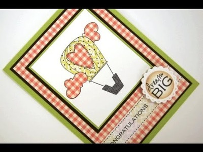 Dream Big Paper Pieced Card