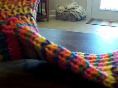 Finished Toe - Sock Loom