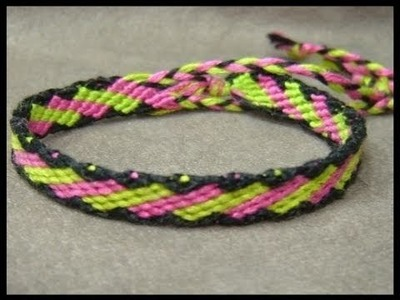 ► Friendship Bracelet Tutorial - Beginner - Slanted Brick Stitches