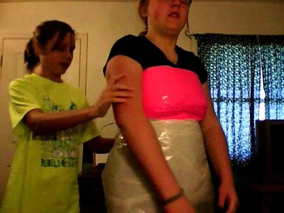 Garbage Bag and Duck Tape Dress