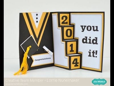 Graduation Card with the Silhouette