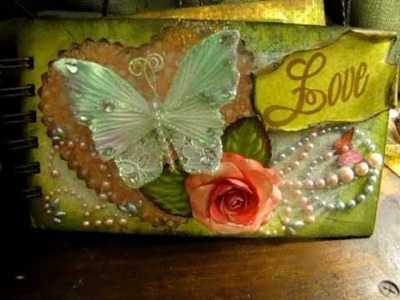 "Handmade paper cabbage rose.ranunculus and ""Love"" mini"