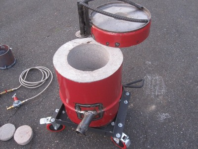Homemade Propane Foundry Furnace Metal Aluminium Tutorial How To Make Build Part 1 of 4 Aluminum